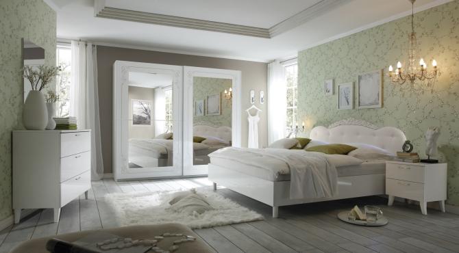 Sp lne n bytok - Camera da letto moderna bianca laccata ...