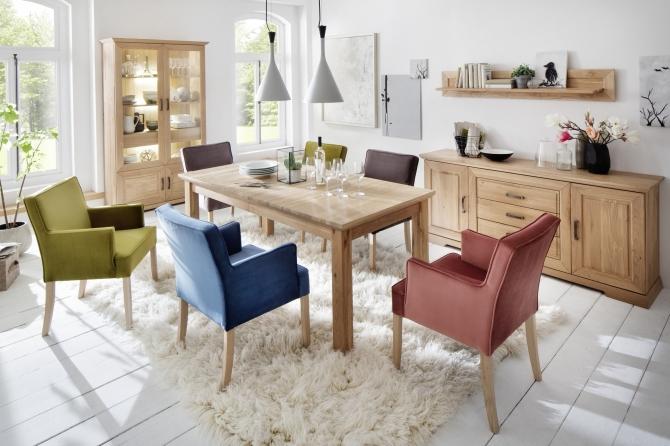 Jídelní sestava nábytku AMBRA + židle PORTO_obr. 1