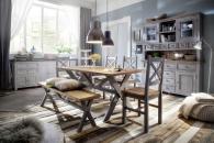 Obývací a jídelní nábytek ANTIC grey v kombinací s ANTIC white v interieru_obr. 1