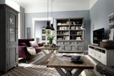 Obývací a jídelní nábytek ANTIC grey v kombinací s ANTIC white v interieru_obr. 3