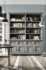 Obývací a jídelní nábytek ANTIC grey_komoda s regálem typ 21 v interieru_obr. 7