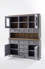 Obývací a jídelní nábytek ANTIC grey_kombinovaná vitrina typ 15_otevřená_obr. 11