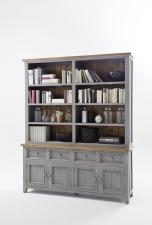 Obývací a jídelní nábytek ANTIC grey_komoda s regálem typ 21_obr. 12