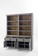 Obývací a jídelní nábytek ANTIC grey_komoda s regálem typ 21_otevřená_obr. 13