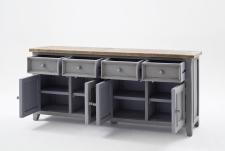 Obývací a jídelní nábytek ANTIC grey_komoda typ 02_otevřená_obr. 22