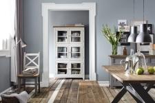 Obývací a jídelní nábytek ANTIC white v kombinací s ANTIC grey v interieru_obr. 4