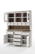 Obývací a jídelní nábytek ANTIC white_vitrína kombinovaná typ 15_otevřená_obr. 9