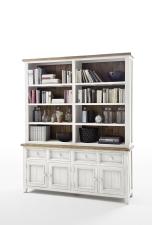 Obývací a jídelní nábytek ANTIC white_komoda s regálem typ 21_obr. 10