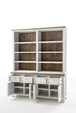 Obývací a jídelní nábytek ANTIC white_komoda s regálem typ 21_otevřená_obr. 11