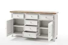 Obývací a jídelní nábytek ANTIC white_komoda typ 01_otevřená_obr. 21