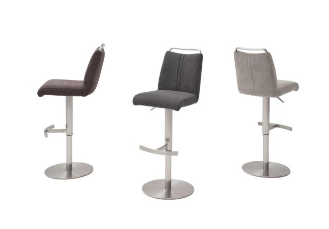Barová stolička GAMMA I._látka / imitácia kože / pravá koža