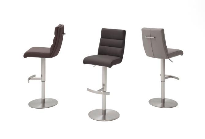 Barová stolička GAMMA II._látka / imitácia kože / pravá koža