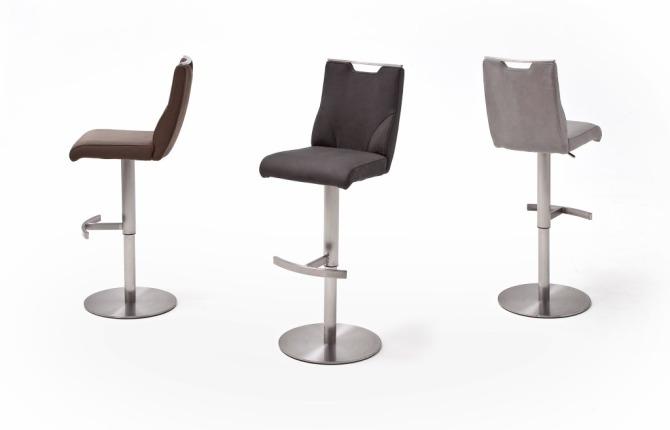 Barová stolička GAMMA III._látka / imitácia kože / pravá koža