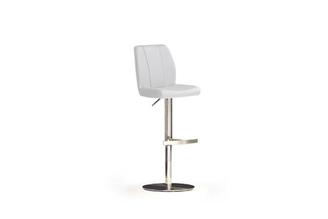 Barová stolička NINA II._nerez, kruh, imitácia kože