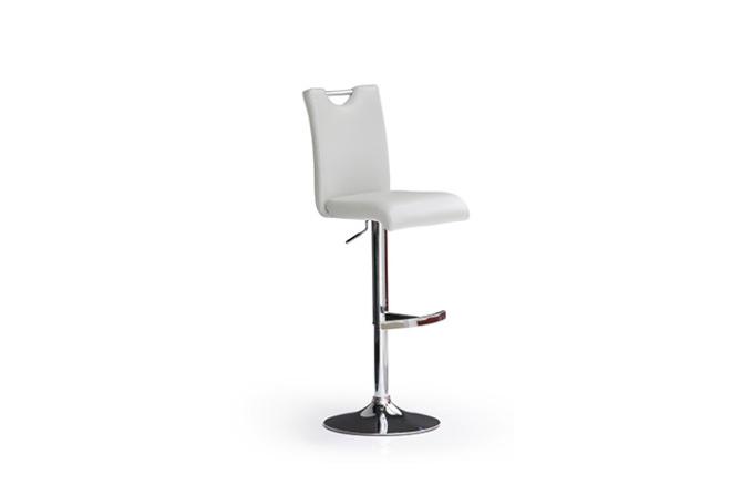 Barová stolička SOUL I._chróm, kruh, imitácia kože