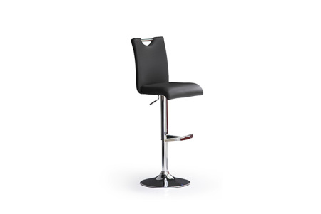 Barová židle SOUL I_ imitace kůže černá_podnož chromovaná kruh_obr. 2