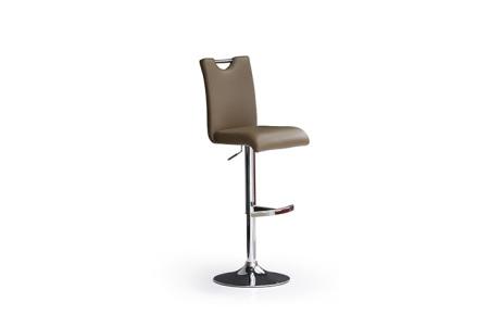 Barová židle SOUL I_ imitace kůže cappuccino_podnož chromovaná kruh_obr. 4