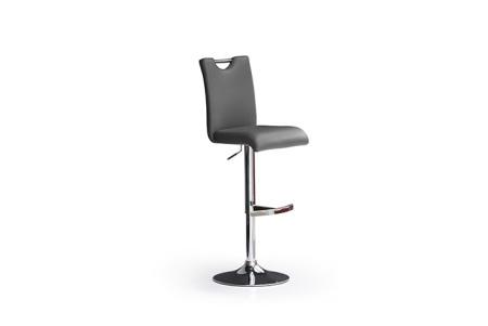 Barová židle SOUL I_ imitace kůže šedá_podnož chromovaná kruh_obr. 5
