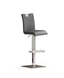 Barová stolička SOUL IV._nerez, štvorec, imitácia kože