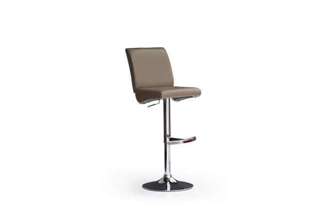 Barová židle VICKY I._imitace kůže cappuccino_podnož chromovaná kulatá_obr. 1