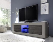 BASICO_TV-element 181 cm_béžový matový melamin / dub wenge dekor