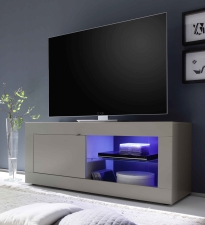 BASICO_TV-element 140 cm_béžový matový melamin