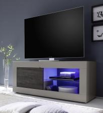 BASICO_TV-element 140 cm_béžový matový melamin / dub wenge dekor