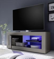 BASICO_TV-element 140 cm_béžový matový melamin / dub wenge dekor_otevřený