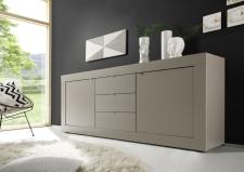 BASICO_sideboard 210 cm_béžový matový melamin