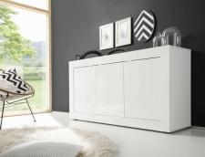 BASICO_sideboard 160 cm_bílý lak, vysoký lesk