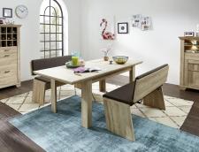 Jídelní nábytek BIRMINGHAM_jídelní stůl roztažený + 2x jídelní lavice_obr. 15