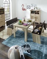 Jídelní nábytek BIRMINGHAM_jídelní stůl + 2x jídelní lavice_obr. 21