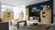 Obývací stěna CAPENSA  40 52 07 s LED osvětlením HIBO 3 + highboard 40 52 93 48 (konf. stolek a nízká skříňka v rohu nejsou součástí nabídky)