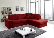 Sedací souprava COMFORT SLEEP_sofa 142 cm s funkcí na spaní + ottoman pravý_v látce Kati bordeaux (skup. 11)_obr. 2