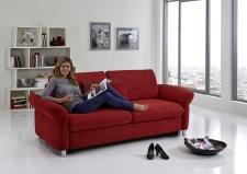 Sofa s funkcí na spaní COMFORT SLEEP_šířka sedáku 162 cm, područky tap 21, vzhled polštářů typ A, korpus typ A, plocha na spaní 148 x 200 cm_v látce Kati bordeaux_obr. 7
