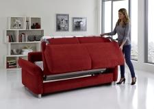 Sofa s funkcí na spaní COMFORT SLEEP_šířka sedáku 162 cm, područky tap 21, vzhled polštářů typ A, korpus typ A, plocha na spaní 148 x 200 cm_v látce Kati bordeaux_obr. 12