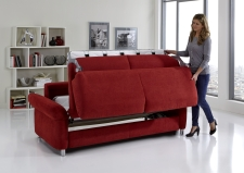 Sofa s funkcí na spaní COMFORT SLEEP_šířka sedáku 162 cm, područky tap 21, vzhled polštářů typ A, korpus typ A, plocha na spaní 148 x 200 cm_v látce Kati bordeaux_obr. 13