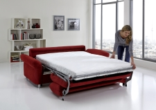 Sofa s funkcí na spaní COMFORT SLEEP_šířka sedáku 162 cm, područky tap 21, vzhled polštářů typ A, korpus typ A, plocha na spaní 148 x 200 cm_v látce Kati bordeaux_obr. 14