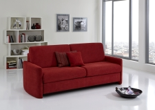 Sofa s funkcí na spaní COMFORT SLEEP_šířka sedáku 182 cm, područky typ 1, vzhled polštářů typ B, korpus typ A, plocha na spaní 168 x 200 cm_v látce Kati bordeaux_obr. 31
