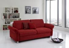 Sofa s funkcí na spaní COMFORT SLEEP_šířka sedáku 162 cm, područky typ 21, vzhled polštářů typ A, korpus typ A, plocha na spaní 148 x 200 cm_v látce Kati bordeaux_obr. 33