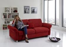 Sofa s funkcí na spaní COMFORT SLEEP_šířka sedáku 162 cm, područky typ 21, vzhled polštářů typ A, korpus typ A, plocha na spaní 148 x 200 cm_v látce Kati bordeaux_obr. 2