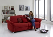 Sofa s funkcí na spaní COMFORT SLEEP_šířka sedáku 162 cm, područky typ 21, vzhled polštářů typ A, korpus typ A, plocha na spaní 148 x 200 cm_v látce Kati bordeaux_obr. 3