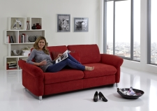 Sofa s funkcí na spaní COMFORT SLEEP_šířka sedáku 162 cm, područky typ 21, vzhled polštářů typ A, korpus typ A, plocha na spaní 148 x 200 cm_v látce Kati bordeaux_obr. 4