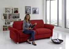 Sofa s funkcí na spaní COMFORT SLEEP_šířka sedáku 162 cm, područky typ 21, vzhled polštářů typ A, korpus typ A, plocha na spaní 148 x 200 cm_v látce Kati bordeaux_obr. 6