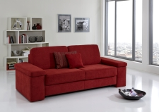Sofa s funkcí na spaní COMFORT SLEEP_šířka sedáku 162 cm, područky typ 7, vzhled polštářů typ C, korpus typ A, plocha na spaní 148 x 200 cm_v látce Kati bordeaux_obr. 30