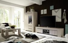 Sestava obývacího nábytku CONTE_vitrina _TV-element 191 cm_konferenční stůl_obr. 1
