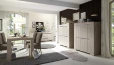 Sestava jídelního nábytku CONTE_sideboard_highboard (2)_jídelní stůl 189 cm_jídelní židle_obr. 6