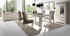 Sestava jídelního nábytku CONTE_sideboard_vitrina_jídelní stůl 189 cm_jídelní židle_obr. 7