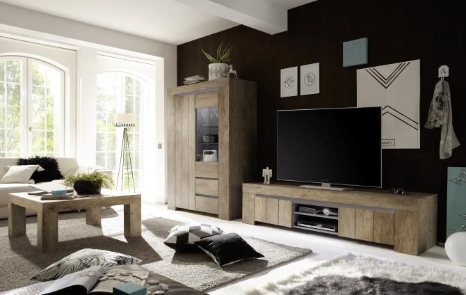 Obývací / jídelní nábytek CONTE II_volná sestava elementů_dub Canyon imitace_obr. 1