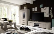 Obývací / jídelní nábytek CONTE II_volná sestava elementů_jilm světlý imitace_obr. 2